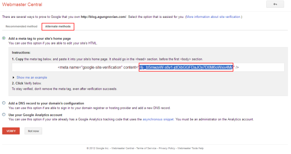 Google Web Master Center