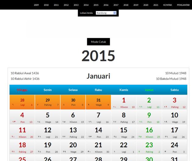 kalender jawa online 2015 search results calendar 2015. Black Bedroom Furniture Sets. Home Design Ideas
